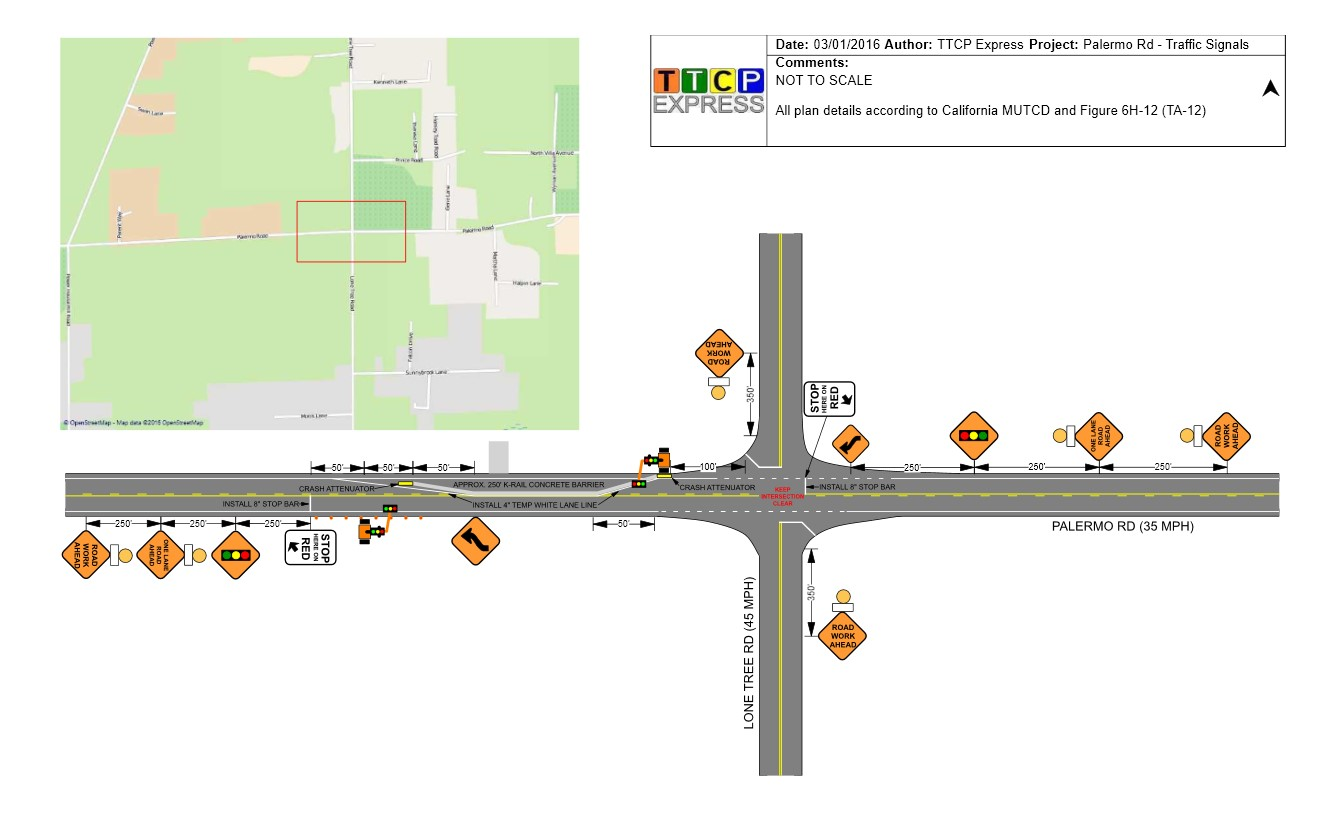 TTCP Express Traffic Control Plan Example