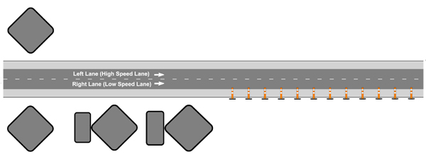 Traffic Control Plans - Shoulder Closure - Equipment Storage