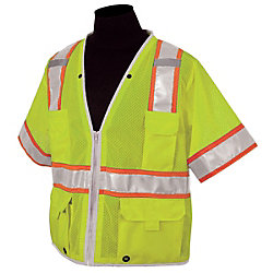 Lime-Color Type-3 Safety Vest